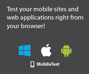 MobileTest - Test your mobile sites and web applications right from your browser